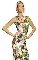 Dolce & Gabbana Printed Silk Charmeuse Top - Lyst