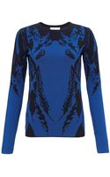 Temperley London Cobalt Plume Jacquard Knit Top - Lyst