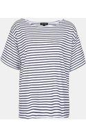 Topshop Breton Stripe Tee - Lyst