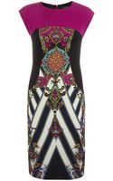 Etro Paisley Panel Sheath Dress - Lyst