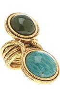 Oscar de la Renta Two Stone Circular Stone Ring - Lyst