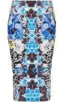 Topshop Flower Placement Tube Skirt - Lyst