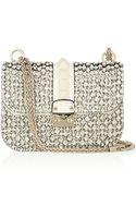 Valentino Glam Lock Crystalembellished Leather Shoulder Bag - Lyst