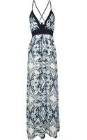 Jane Norman Blue Print Maxi Dress - Lyst