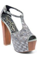 Jessica Simpson Dany Tstrap Highheel Sandals - Lyst