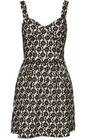 Topshop Lace Corset Flippy Tunic Dress - Lyst