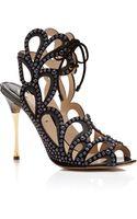 Nicholas Kirkwood Suede Stud Metal Heel Sandal - Lyst