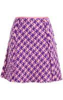Nina Ricci Mohairwool Boucle Tweed Miniskirt - Lyst