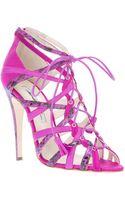 Brian Atwood Strappy Tie Stiletto Sandal - Lyst