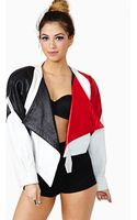 Nasty Gal All Of The Angles Leather Jacket - Lyst