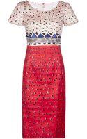 Oscar de la Renta Printed Slim Dress - Lyst
