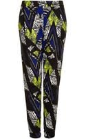 Topshop African Chevron Jersey Tapered Trousers - Lyst