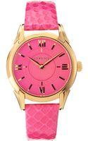Versace Snakeskinstrap Bracelet Watch Neon Pink - Lyst