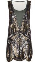Haute Hippie Deep Plunge Embellished Dress - Lyst