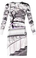 Mary Katrantzou Uppety Do Silhouetteprint Dress - Lyst
