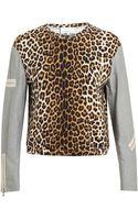 3.1 Phillip Lim Leopard Printed Cotton Sweatshirt - Lyst