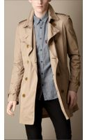 Burberry Midlength Lightweight Trench Coat - Lyst