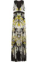 Roberto Cavalli Printed Silkchiffon and Lace Gown - Lyst