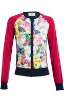 Erdem Knitted Floral Printed Cardigan - Lyst