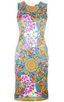 Dolce & Gabbana Floral Print Dress - Lyst