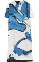 Preen By Thorton Bregazzi Maja Printed Silk Crepe De Chine Dress - Lyst