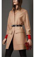 Burberry Oversize Camel Hair Coat - Lyst