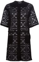 Dolce & Gabbana Lace Shirt Dress - Lyst