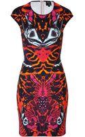 McQ by Alexander McQueen Mirror Print Dress - Lyst