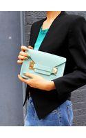 Sophie Hulme Duck Egg Mini Envelope Bag - Lyst