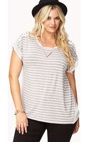Forever 21 Nautical Knit Top - Lyst