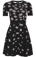 McQ by Alexander McQueen Flirty Beetle Fit and Flare Knit Dress - Lyst