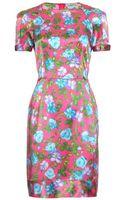 Nina Ricci Print Silk Dress - Lyst