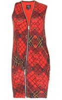 McQ by Alexander McQueen Multizip Tartanprint Dress - Lyst