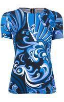 Emilio Pucci Pattern Print Tshirt - Lyst
