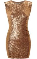 John Zack All Over Sequin Cut Out Back Dress - Lyst