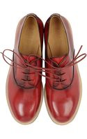 Maison Martin Margiela Leather Lace Up Shoes - Lyst