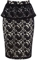 Oasis Lace Peplum Skirt - Lyst