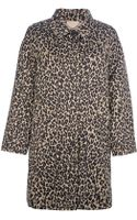 Weekend By Maxmara Lega Leopard Print Coat - Lyst