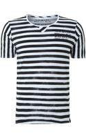 Diesel Stripe Text Print T-shirt - Lyst