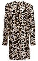 Equipment Aubrey Silk Animal-print Dress Natural X-small0-2 - Lyst