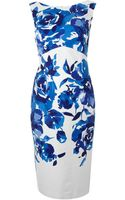 Js Collections Floral Print Shift Dress - Lyst