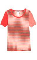 Sonia By Sonia Rykiel Short Sleeve Stripe Tee - Lyst