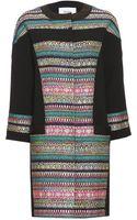 Prabal Gurung Tweed-paneled Wool-blend Coat - Lyst