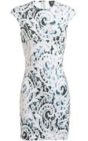 McQ by Alexander McQueen Lace Printed Stretchjersey Dress - Lyst