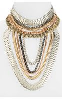 Topshop Multi Chain Bib Necklace - Lyst