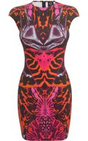 McQ by Alexander McQueen Kaleidoscope Beetle Cap Sleeve Dress - Lyst