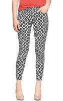 Gap Printed Legging Skimmer Jeans - Lyst