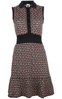 M Missoni Sleeveless Contrast Collar Dress - Lyst