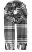 Mulberry Checked Cashmere-blend Scarf - Lyst