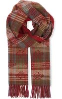 Mulberry Logodetail Checked Cashmereblend Scarf Check - Lyst